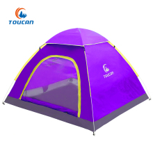 Easy Opening Waterproof Fiberglass Pole Pop Up Camping Tent