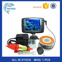 Black Underwater Fishing Camera, 3 IR LEDs 15m Cable length Inspection Camera with 3.5 inch Color Monitor fish finder