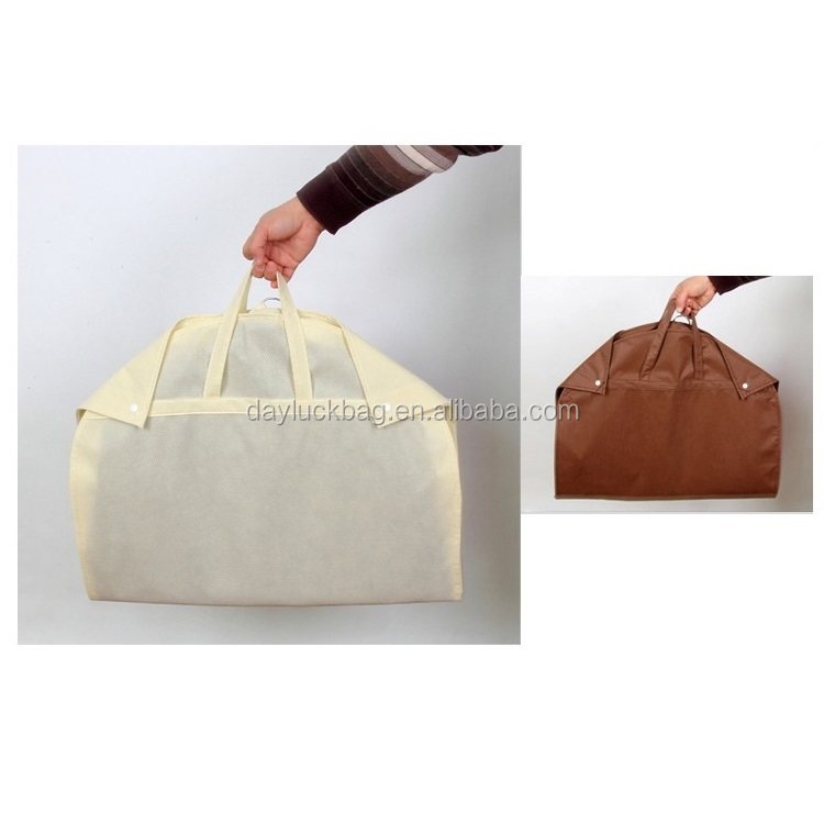 Waterproof Non Woven Foldable Suit Garment Cover Bag for Travel Carry on