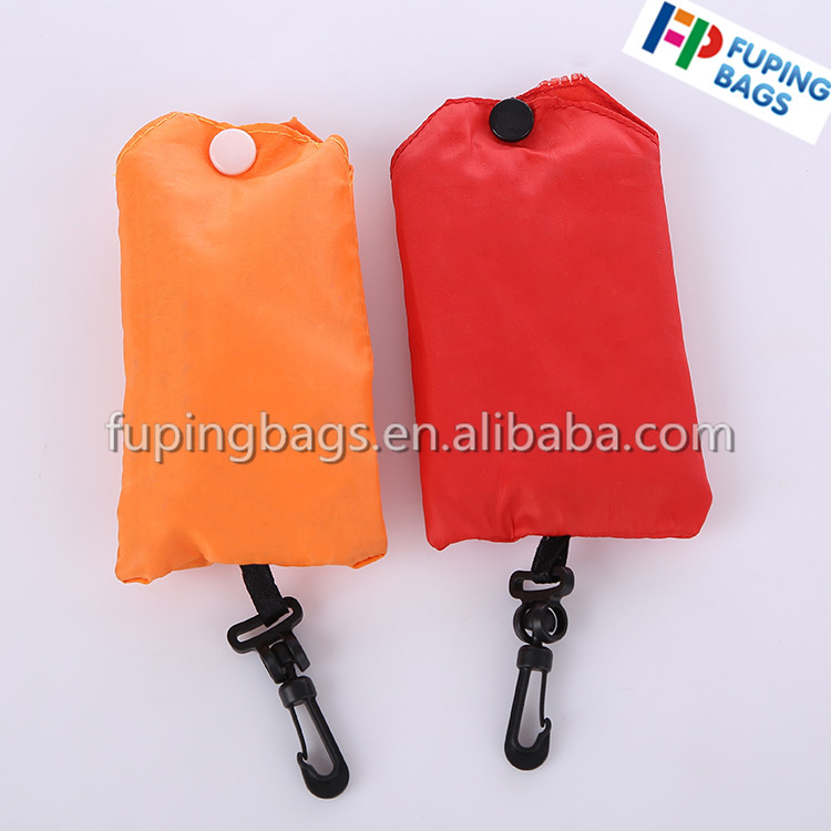 Customed various style of shape foldable nylon shopping bag,polyester bagwith small pouch
