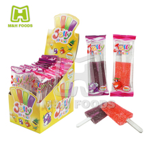 18g Grape and Strawberry Fruity Jelly Pop Gum Lollipop Candy