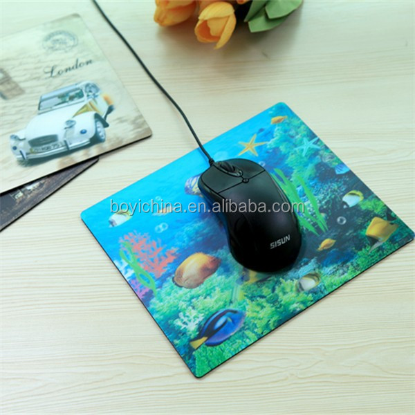 Lenticular UV printed plastic mouse pad for office