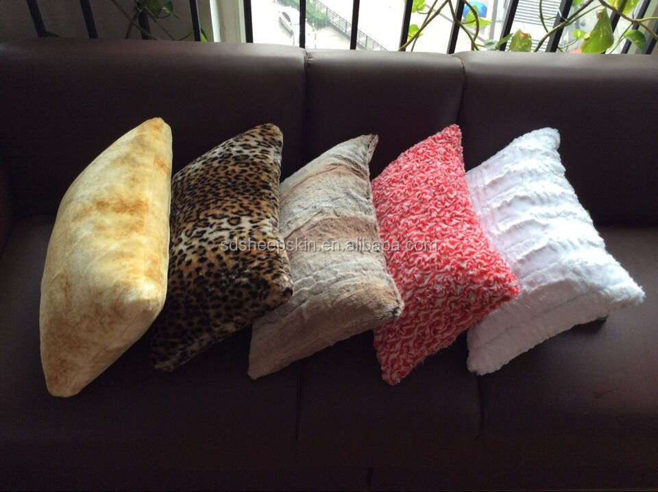 faux fur pillow cases mongolian lamb colorful pillows faux fur dyed pillows