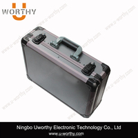 high quality durable hard aluminum case/hard shell handle case