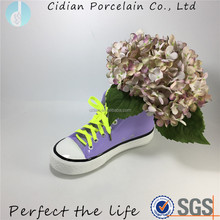 Decorative ceramic shoes shaped flower pot
