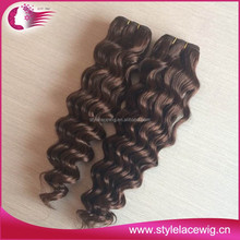 Best price fashion brown color malaysian hair, chocolate brown hair