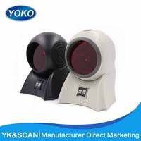 pos Laser Omnidirectional desktop 1D barcode scanner YK-8120 FAST READING multi laser line usb