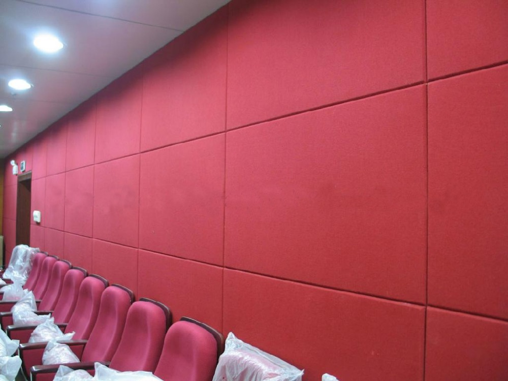 ECO glass fiber acoustic panel beautiful decorative sound proof and absorption acoustic panel for ceiling and wall