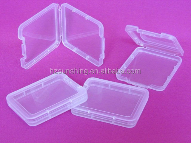 holder for sale plastic sd card case clear cf memory card holder