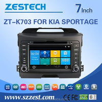 touch screen car dvd gps for kia sportage with rearview camera