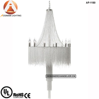Royally Opulent Pendant Light Silver Chain Chandelier