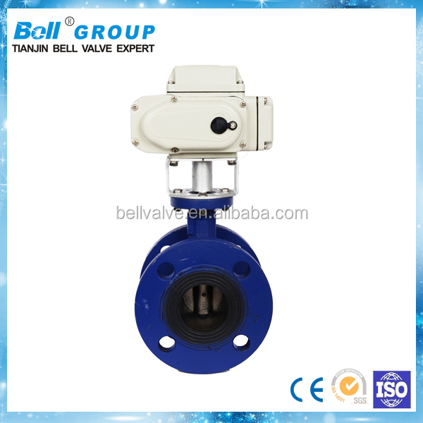 DN750 PN16 Ductile Iron Electric Flange Butterfly Valve