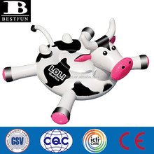 giant kids inflatable cow pool float toys plastic milk cow pool ride on toys inflatable kids cow water toys for pool