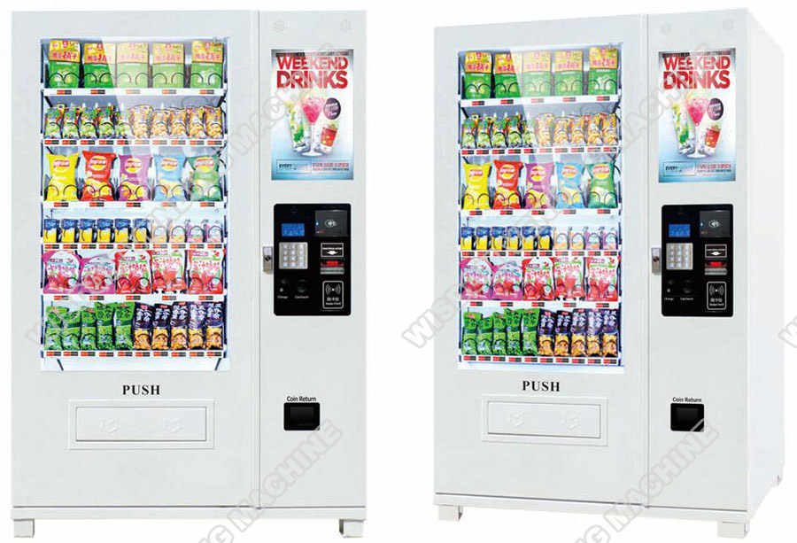 Media vending machine with big LCD monitor