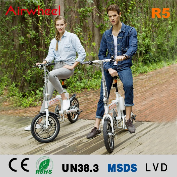 Airwheel R5 two wheels 16inch no gear smart e bike light weight electric folding bicycle