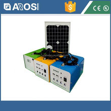 Arosi high effiency solar gujarat 20w 7ah mini portable system china price