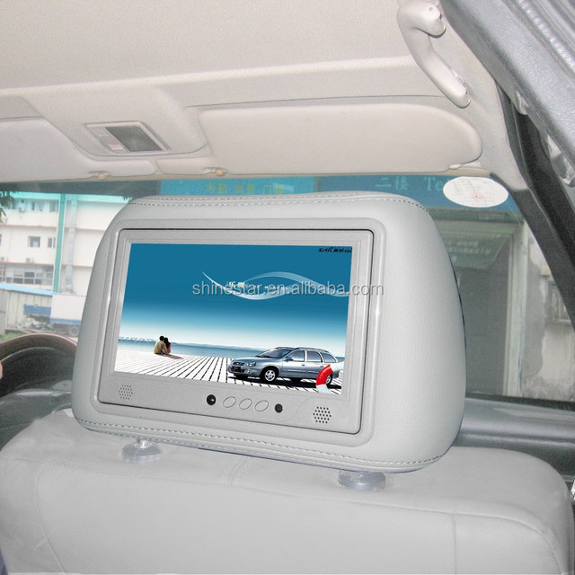9 inch cab taxi headrest advertising player screen with IR body sensor