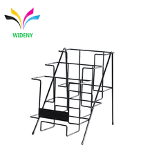 Book store metal wire 3 tiers countertop comic book display rack