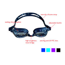 Swimmer Swim Goggles Silicone Swiming Glasses,Anti-fog Swimming Goggles