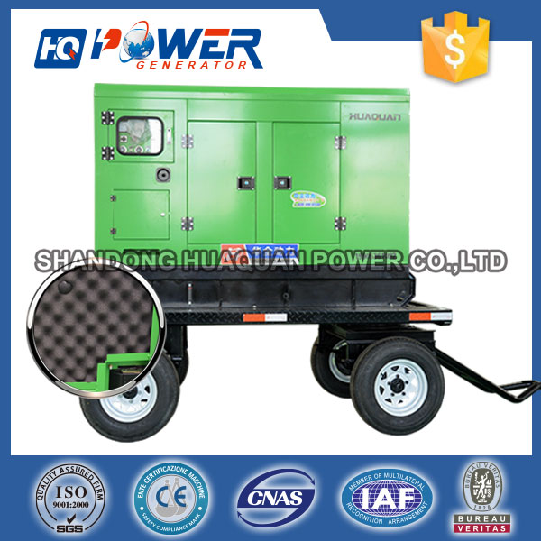 high performance carrier 200kw mobile silent trailer genset