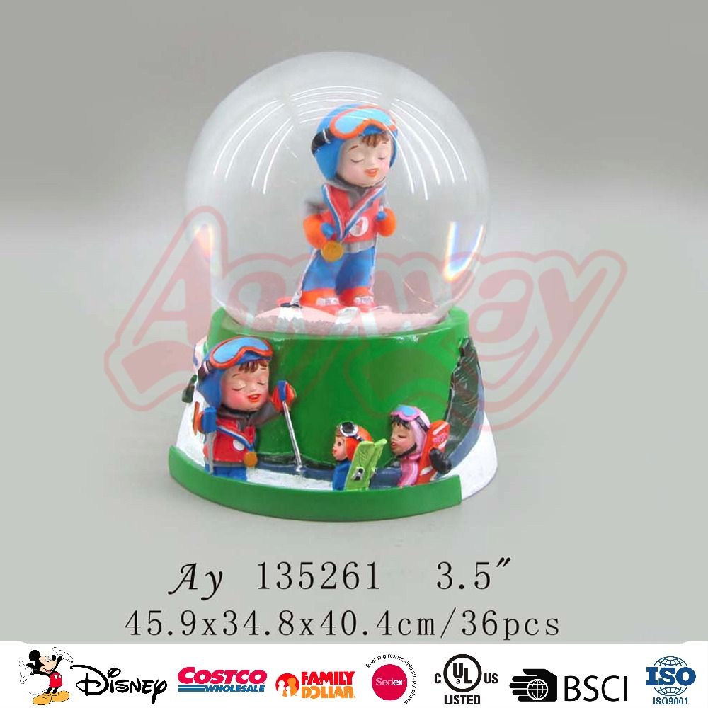 Multifunctional switzerland snow globe Famous Souvenirs Custom Promotional Crafts Gift Wholesale