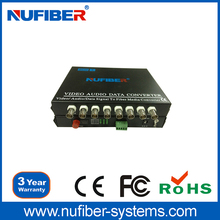 best price 8CH optical video transmitter and receiver
