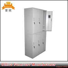 BAS-028 kd structure steel lockable wardrobe cabinet metal clothes locker