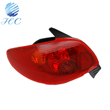 Full chrome clear finish rear tail lights rear lights for Peugeot 206