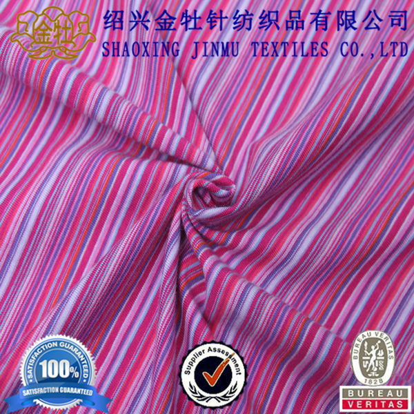 Organic 100% cotton single jersey for tshirt knit fabric supplier