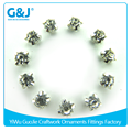 guojie brand Unique design Decorative accessories metal claw setting crystal stone