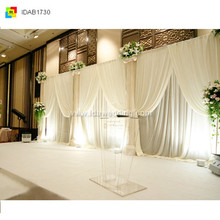 2014 IDA weaving backdrop curtain for festival/wedding/event/party (double velveteen fabric )