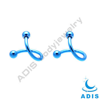 Steel Piercing Spiral Twister Barbell Eyebrow Bar Ear Tragus Ring