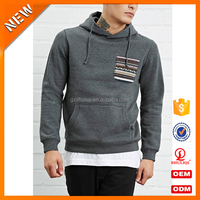 Wholesale Plain Hoodies With Embroidery Pocket