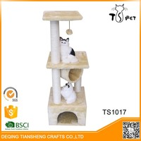 2016 New Sisal And Soft Plush cat tree bed pet house