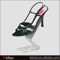 Hot new clear high heel acrylic shoes display
