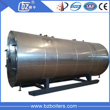 Natural gas induction hot water boiler