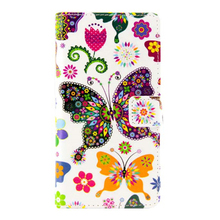 Cheap cartoon painting PU flip leather mobile phone case for Sony Z5,smart cover for Sony