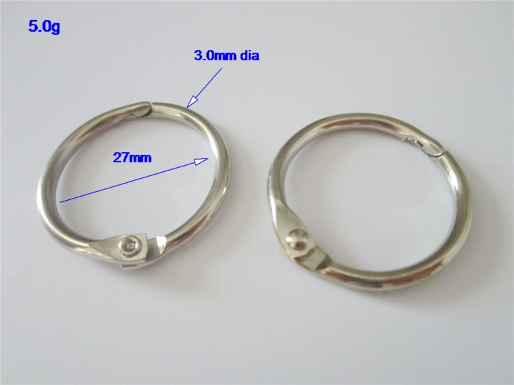 Factory supply metal binder book ring for album