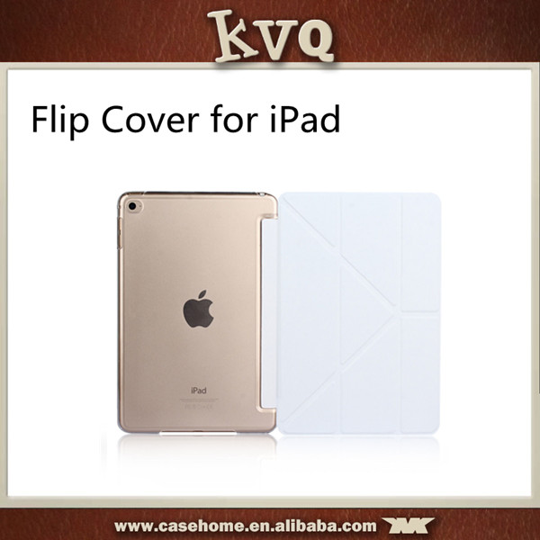 Factory Price Leather Flip Cover for ipad mini 4 with Various Colors