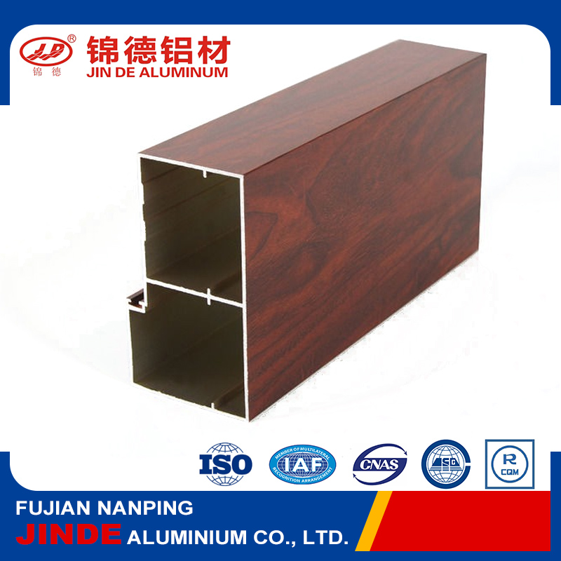 Extruded wooden grain v-slot aluminum profiles for decoration