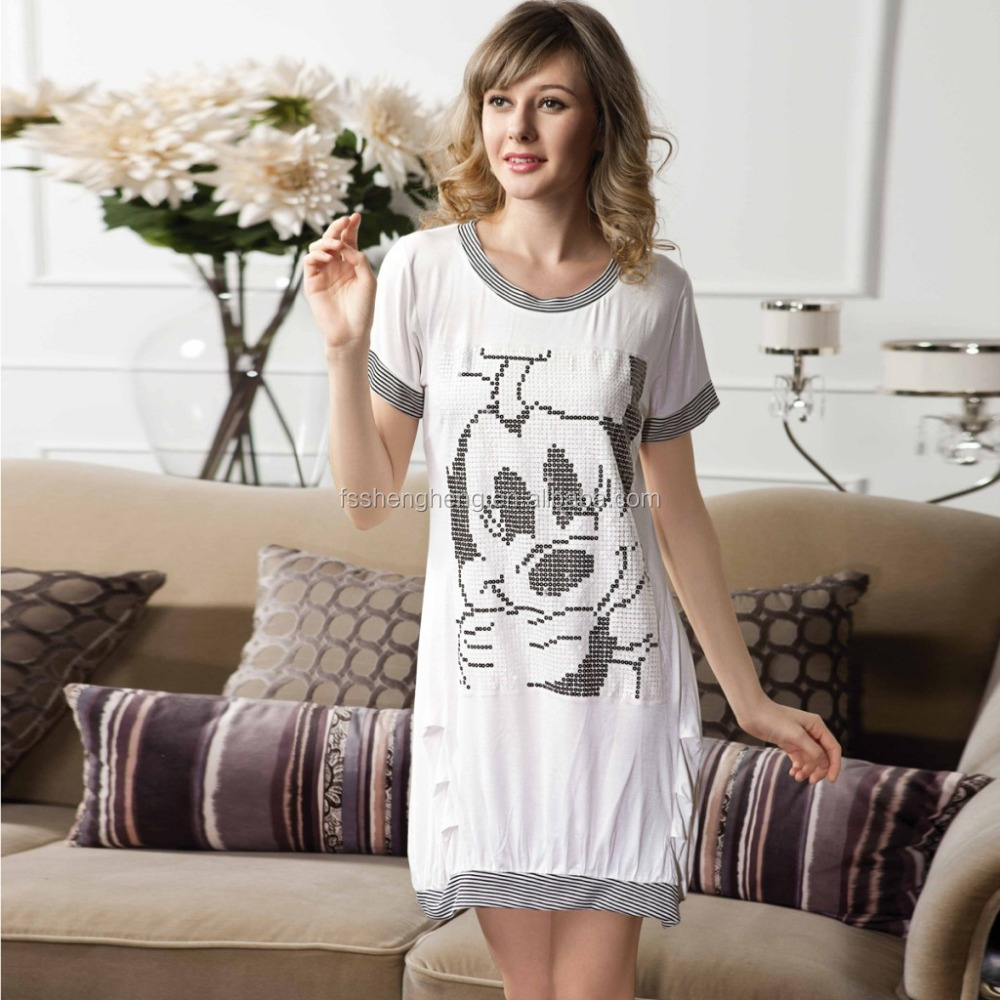 Factory price to be public new style sexy cheap nighty for women RP010