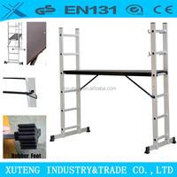 EN 131 aluminium folding scaffolding telescopic step ladder