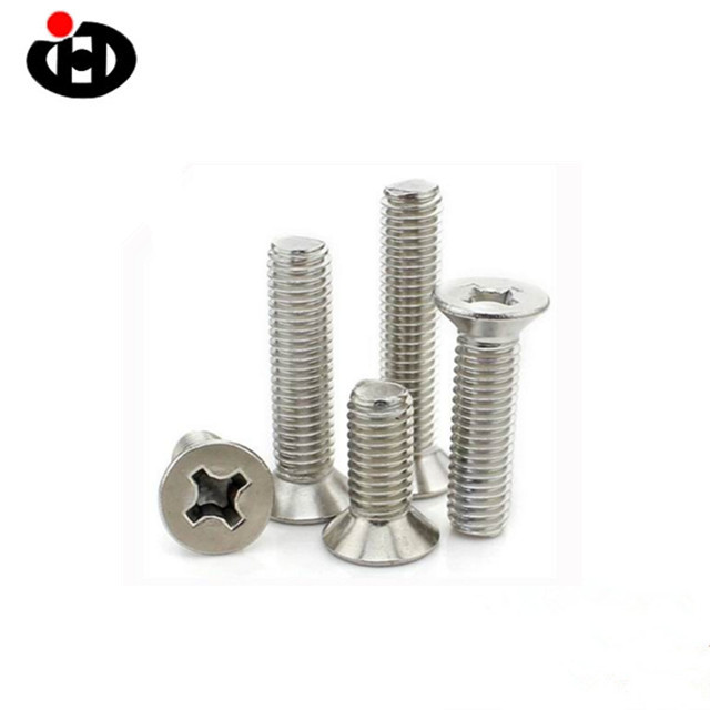 Hot Sales Stainless Steel Cross Recessed Countersunk Head Machine <strong>Screw</strong>