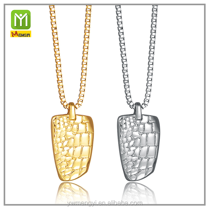 new arrival men fashion design simple gold cuff chain gold bullion jewelry nugget pendant necklace