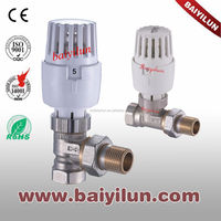 EN215 Thermostatic Radiator valve with B type;Combination of straight valve and angle valve