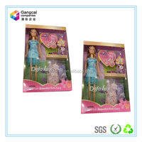 Paper Material Doll Packaging Box with PVC Window