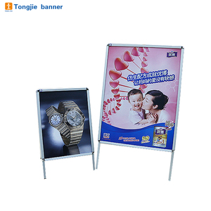 Portable double side A board poster sign snap frame floor stand