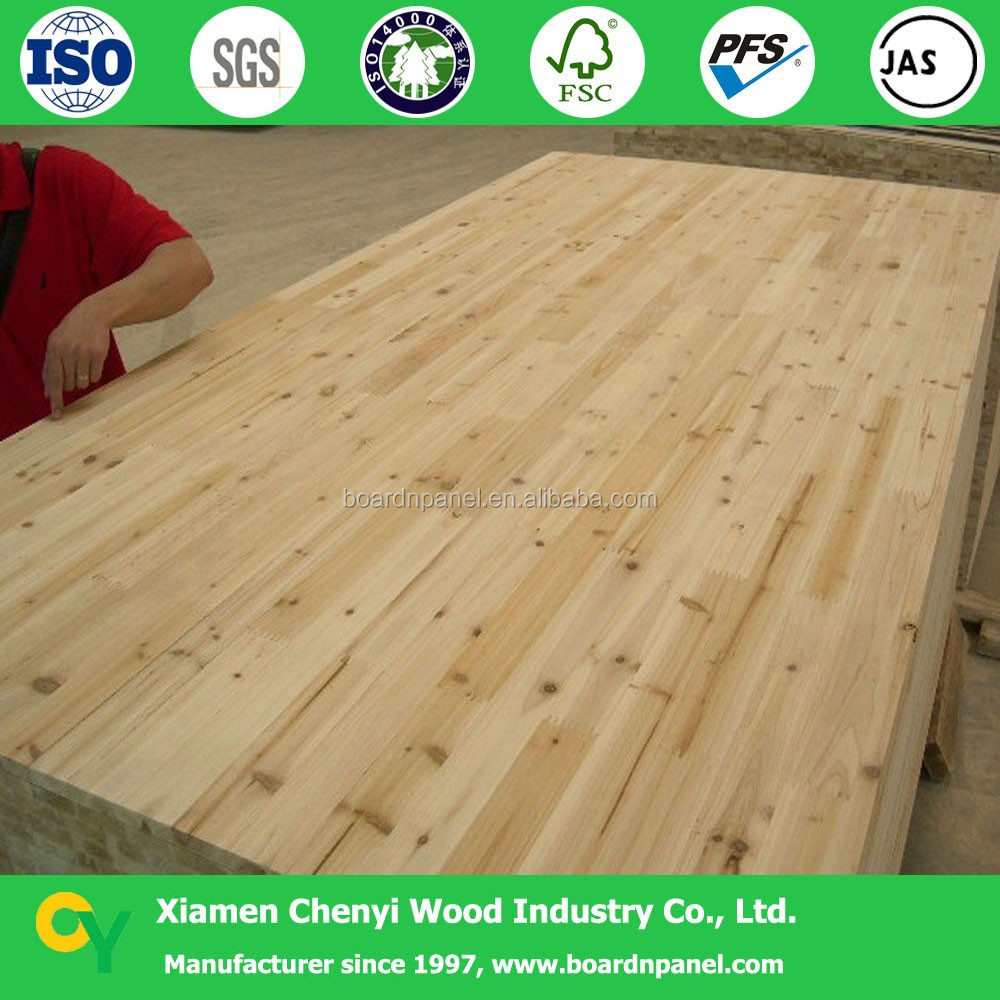 fir finger jointed laminated timber wood panel