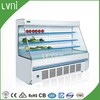 LVNI Supermarket fruit display fridge/vegetable refrigerated showcase/Grocery open display cooler for beverage