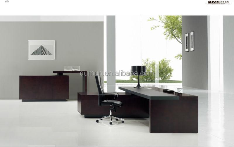 Populares MDF escritorio ejecutivo oficina muebles hechos en China